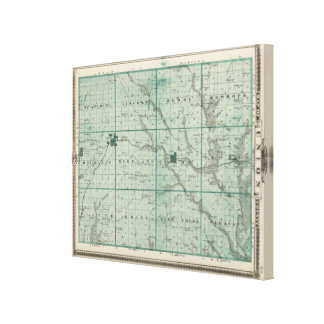 Map of Union County, State of Iowa Canvas Print