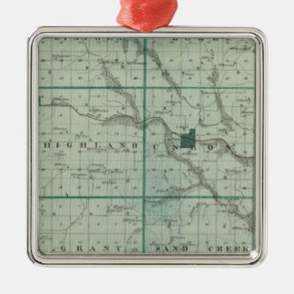 Map of Union County, State of Iowa Christmas Ornament