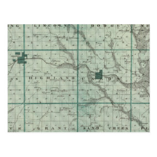 Map of Union County, State of Iowa Postcard