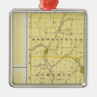 Map of Union County with Brownsville, Liberty Christmas Ornament