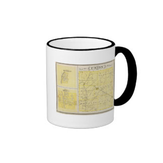 Map of Union County with Brownsville, Liberty Coffee Mugs