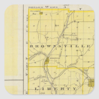 Map of Union County with Brownsville, Liberty Square Sticker