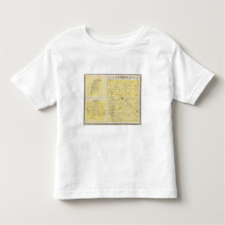 Map of Union County with Brownsville, Liberty Toddler T-Shirt