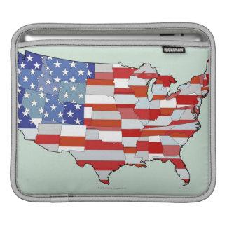 Map of United States of America iPad Sleeve