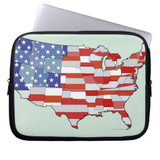 Map of United States of America Laptop Sleeve