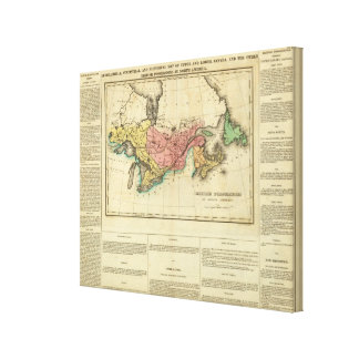Map Of Upper And Lower Canada Canvas Print