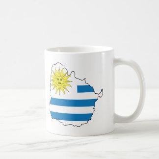 Map Of Uruguay Coffee Mug