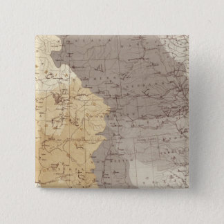 Map of US Drainage Areas 15 Cm Square Badge