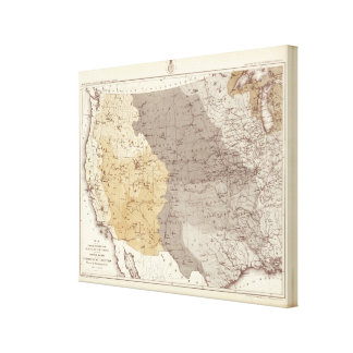 Map of US Drainage Areas Canvas Print