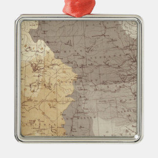 Map of US Drainage Areas Christmas Ornament