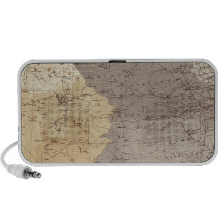 Map of US Drainage Areas iPhone Speaker