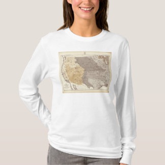 Map of US Drainage Areas T-Shirt