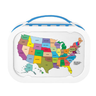 MAP of USA Lunchbox! Lunch Boxes