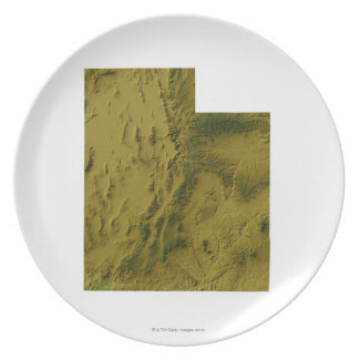 Map of Utah Plate