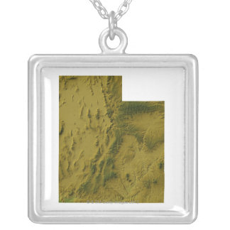 Map of Utah Silver Plated Necklace