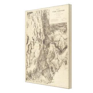Map of Utah Territory Canvas Print