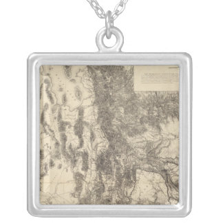 Map of Utah Territory Silver Plated Necklace