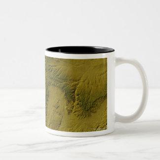 Map of Utah Two-Tone Coffee Mug