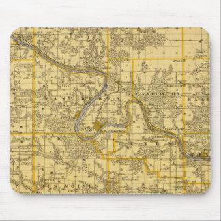 Map of Van Buren County, State of Iowa Mouse Mat