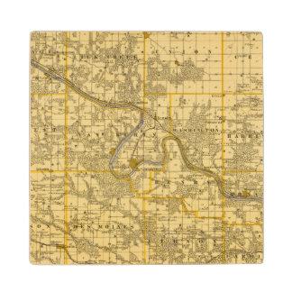 Map of Van Buren County, State of Iowa Wood Coaster