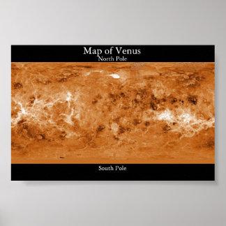 Map of Venus Poster