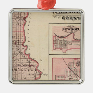 Map of Vermillion County with Newport Christmas Ornament