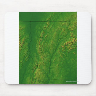 Map of Vermont 2 Mouse Mat