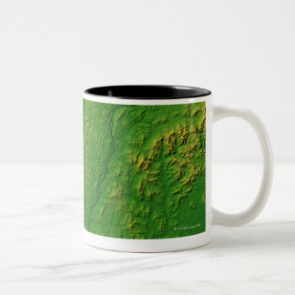 Map of Vermont 2 Two-Tone Coffee Mug