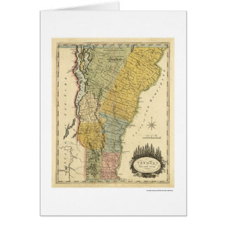 Map of Vermont by Carey 1814 Card