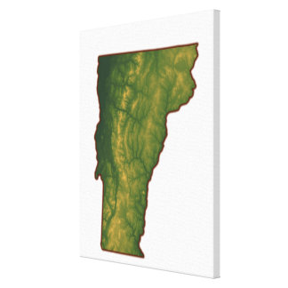 Map of Vermont Canvas Print