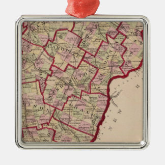 Map of Vermont Christmas Ornament