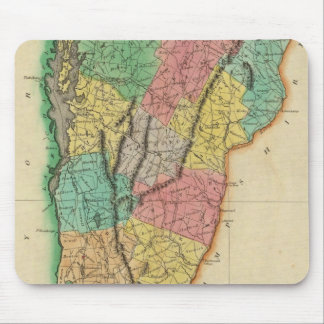 Map Of Vermont Mouse Mat
