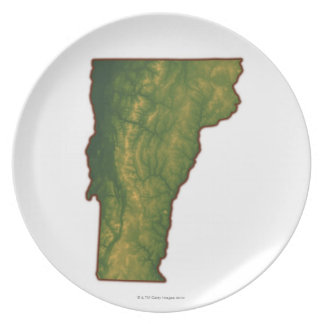 Map of Vermont Plate