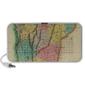 Map Of Vermont Mini Speakers