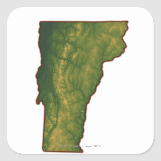 Map of Vermont Square Sticker