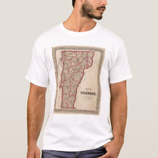 Map of Vermont T-Shirt