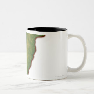 Map of Vermont Two-Tone Coffee Mug