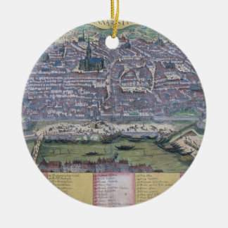 Map of Vienna, from 'Civitates Orbis Terrarum' by Christmas Ornament