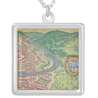 Map of Vienna Silver Plated Necklace