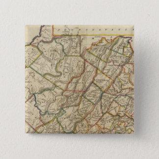 Map of Virginia 15 Cm Square Badge