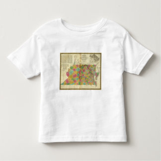 Map of Virginia and Maryland Toddler T-Shirt