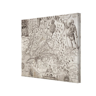 Map of Virginia, discovered and described by Capta Canvas Print