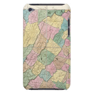 Map of Virginia, Maryland and Delaware iPod Touch Cases