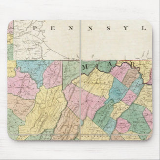Map of Virginia, Maryland and Delaware Mouse Mat