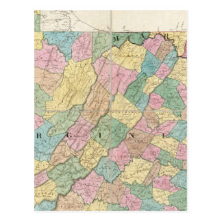 Map of Virginia, Maryland and Delaware Postcard