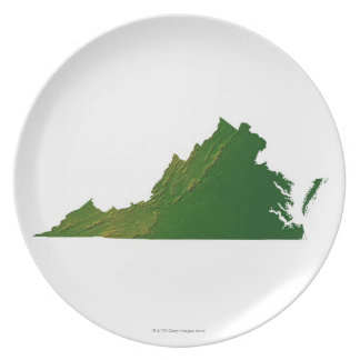 Map of Virginia Plate