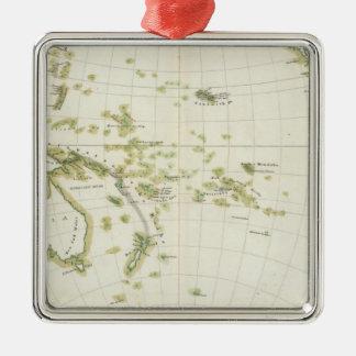 map of Volcano Girdle Christmas Ornament