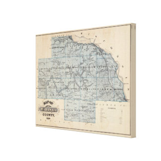 Map of Wabasha County, Minnesota Canvas Print