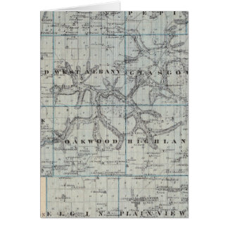 Map of Wabasha County, Minnesota Card