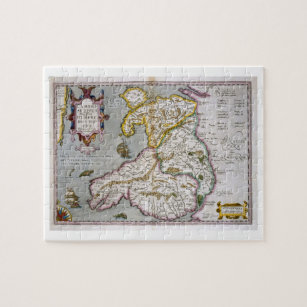 Map of Wales, published c.1630 (hand-coloured engr Jigsaw Puzzle